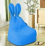 Kinder Sofa Stuhl Bunny Kaninchen Sitzsack bequemer Kissen Mini Stuhl, Geburtstag Geschenke, für Kleinkinder, Kind, Baby, Kleinkind blau