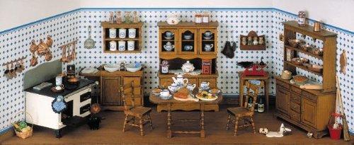 Alter Herd (MiniMundus Geschenkpackung, alte Küche, mit Herd 40065 für das Puppenhaus, Bausatz)