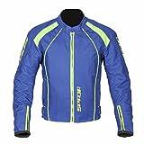Spada Motorcycle Textile Jacket Plaza Waterproof Blueberry/Lime