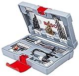 Bosch 2608P00233 Bits/Bohrer Premium Set Betonbohrer, Ratschenschraubdreher, Tiefenstopp, Flachfräsbohrer, Bits, Kegelsenker mit Titan-Nitrid-Beschichtung im stabilem Koffer, 49-teilig
