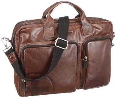 Strellson Jones soft-briefcase 4010000121 Herren Henkeltaschen 40x29x10 cm (B x H x T), Braun (dark brown 702)