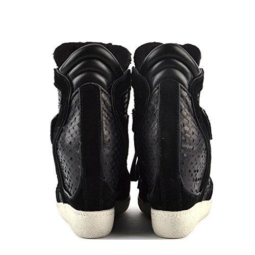 Damen Schwarz Sneaker Aus Brendy Ash Leder zvwTqT