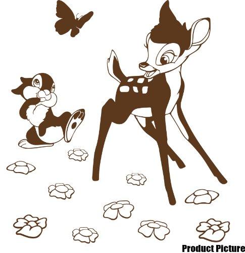 Preisvergleich Produktbild Disney Bambi Aufkleber 60cm x 55cm Farbe Wählen 18Farben auf Lager Childs Schlafzimmer, Kinder Zimmer Aufkleber, Auto Vinyl-, Windows und Wandtattoo, Wall Windows Art, Decals, Ornament Vinyl Aufkleber von 4printer braun