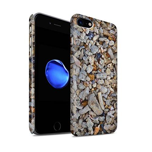 STUFF4 Matte Snap-On Hülle / Case für Apple iPhone 8 / Steinboden/Rot Muster / Stein/Rock Kollektion Muscheln