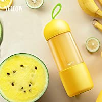 USB Rechargeable Portable Mini Electric Juicer 260ml Sports Bottle Cup Blender for Home Outdoor - UINIAI (Yellow)