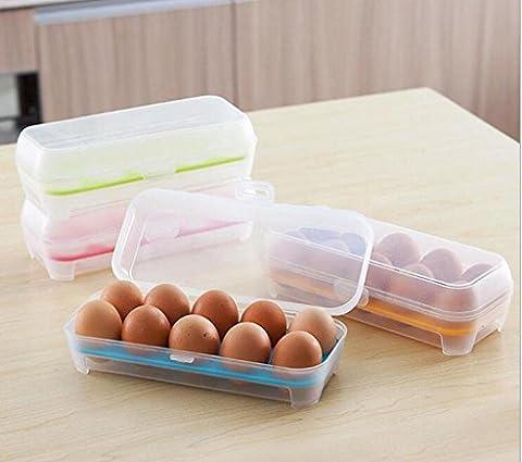 AN-LKYIQI 4 boîtes de stockage d'oeufs, fournitures de cuisine, réfrigérateur