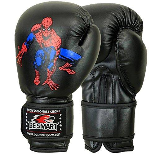 besmart Kinder Boxhandschuhe Junior Pad 113,4g, 170,1Boxsack Kinder MMA Youth BL schwarz schwarz 4 Oz