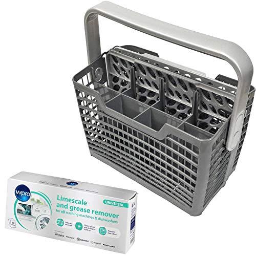 Spares2go Besteckkorb & Kalkentferner Reinigungstaschen für Bosch Geschirrspüler -