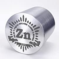 1kg Bellas inflexión Zinc Metal Cilindro de diámetro. 57× 57mm 99,99% grabado tabla periódica
