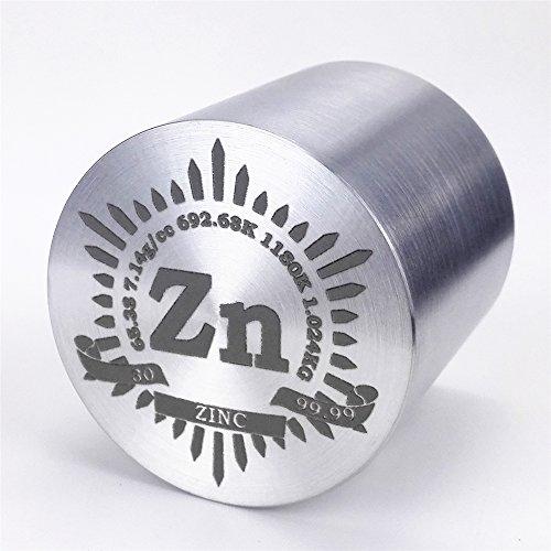 1kg Fein Wenden Zink Metall Zylinder Dia. 57×, 99,99% Gravur Periodensystem