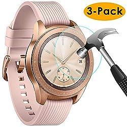 KIMILAR Panzerglas Kompatibel mit Samsung Galaxy Watch 42mm SM-R810/R815 Schutzfolie,[3 Stück] (Nicht Fit für Active 2/46mm/40mm) Gehärtetes Glas Displayschutzfolie für Galaxy Watch (42mm)-9H Härte