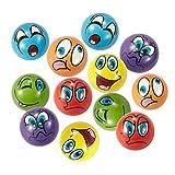 Balle Anti Stress 12 Pièces Emoji Balles de stress Squishy Balles parfaite pour évacuer le stress (6 Couleurs)