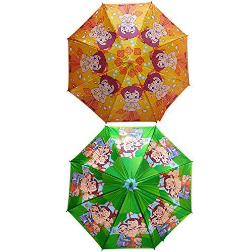 Umbrella for Kids | Kids Umbrella for Boys | Chota bheem Umbrella for Kids | Kids Umbrella Combo Set of 2 | Multi-Color Umbrella for Boys by Five Star