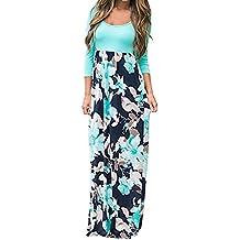 Vestidos Mujer Verano 2018 EUZeo Casual Floral sin Mangas Vestidos Modern Largos Vestidos Playa Mujer Vestidos