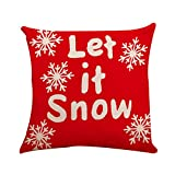 Riou Kissenbezuge Weihnachten Kissenhülle Dekokissen Fall Throw Pillow Covers Bettwäsche Für Autos Sofakissen Startseite Dekorative Weihnachten Kissenbezüge Stickerei Cases (Mehrfarbig C, 45 x 45cm)