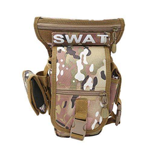 F@Ventilatore di outdoor sport impermeabile in nylon, borse a spalla, uomini e donne spalla camuffamento tattico Kit, Digital Camo , C E