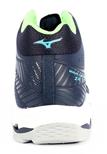 Mizuno Wave Lightning Z4 Mid, Scarpe da Pallavolo Uomo bleu marine/vert gecko/bleu turquoise