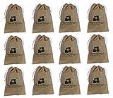 #6: HomeStrap™ Shoe Pouch/ Bag/ Organiser - Beige - Set of 12