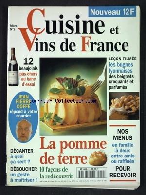 CUISINE ET VINS DE FRANCE [No 2] du 01/03/1994