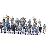 Painted Model Train Workers People Figures Scale 1:42 Pack of Approx.50pcs