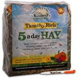 750g Nature's Own Timothy Rich 5 a Day Hay Foraging Feed for Rabbits, Guinea Pigs, Chinchillas & Other Small Pets Animal Food & Tigerbox