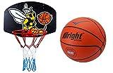 Basketballkorb mit Ball Scout 5 Basketball Korb Set Basketballspiel Manschaftssport Biene