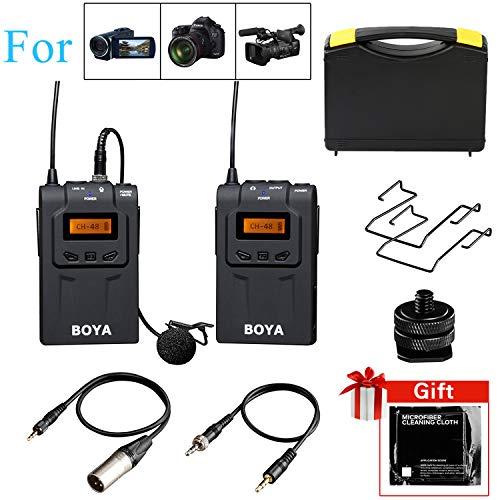 Andoer Système de microphone BOYA BY-WM6 UHF sans fil pour ENG EFP DSLR Appareils photo et caméscopes