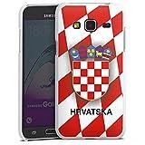 DeinDesign Samsung Galaxy J3 2016 Hülle Case Handyhülle Kroatien Em Trikot Football Fussball