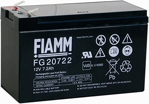 Batteria FIAMM sostituzione Batteria al Piombo FG20722 12 V 7,2 7,27,2 Ah piombo batteria al Gel 20722