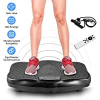 Preisvergleich für Campaig Vibrationsplatte 200W Hohe Leistung mit Bluetooth USB Lautsprecher 180 Stufen Adjust Fitness Vibration Plate +9 Tasten LED Farb Display+Trainingsbänder+ Zubehö+Fernbedienung+ (Max:330lbs)
