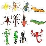 TOYMYTOY 12 Stücke Kunststoff Insekten Spielzeug für Kinder Party Mitgebsel Dekoration