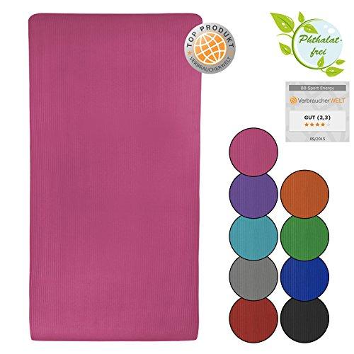 Yoga - Matte - ENERGY 190 cm x 100 cm x 1.5 cm Yogamatte, Farbe:pink