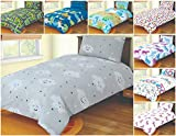 SleepyNights Junior Cot Bed Duvet Cover and Pillow Set- Cotton Rich 120 x 150 cm