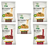 NutraHi Gluten Free Spaghetti Combo - 3 x Multigrain and 2 x Beetroot - 84gm Each