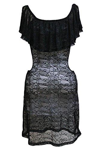 Valin Deman Schwarz SY21642-2 vintage Kleid Grau