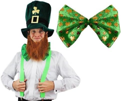 DéguiseHommes t accessoires du parfait Irlandais avec un chapeau chapeau un haut de forme et sa barbe + un nœud papillon + une paire de bretelles pour adulte. Ideal pour fêter la St Patrick ou les enterreHommes ts de vie de garçon. 36f8ea