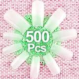 SODIAL(R) 500 x Faux ongles francais de couleur chair (Taille 0-9)
