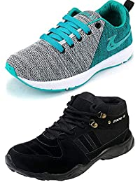 Ethics Perfect Sea Green Air Breathing Running Sports Shoes & Trekking Black Running Sports Shoes For Men