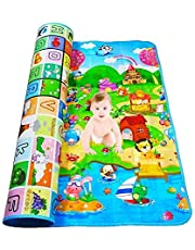 YOZO Playmat Waterproof, Anti Skid, Double Sided Baby Crawling Mat Waterproof Double Side Baby Play Crawl Floor Mat for Kids Picnic Play School Home Baby mat Water Proof