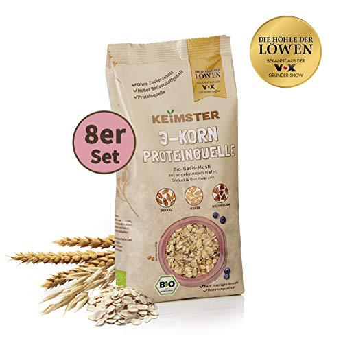 KEiMSTER Bio-Basis-Müsli   Angekeimter Hafer, Dinkel & Buchweizen, ballaststoffreiche Proteinquelle   Ideal als Müsli, Porridge oder im Brot (8)