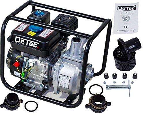 DeTec. 2 Zoll 5,5 PS Benzin Wasserpumpe Motorpumpe Gartenpumpe Pumpe Fördermenge: 30m³/h