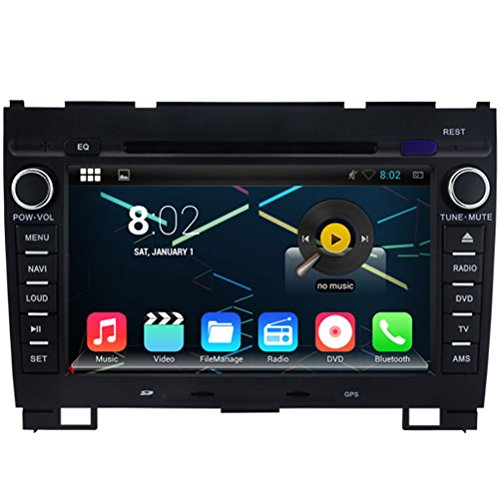 Topnavi 20,3 cm écran capacitif et original UI lecteur DVD de voiture pour Great Wall Hover H3/H5 (2010-2013) avec navigation GPS Bluetooth radio capacitif Bluetooth iPod RDS Répertoire