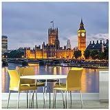 azutura Westminister London Fototapete Stadt Skyline Tapete Büro Schlafzimmer Dekor Erhältlich in 8 Größen Groß Digital