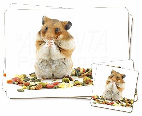 Lunch Box Hamster Zwillings Platzdeckchen und Untersetzer Set Weihnachtsgeschenk
