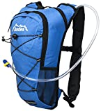 Andes 2 Litre Blue Hydration Pack/Backpack Running/Cycling with Water Bladder/Pockets