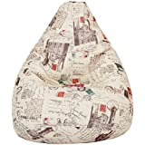 Amazon Brand - Solimo Parisian Dreams XXXL Printed Bean Bag Cover Without Beans