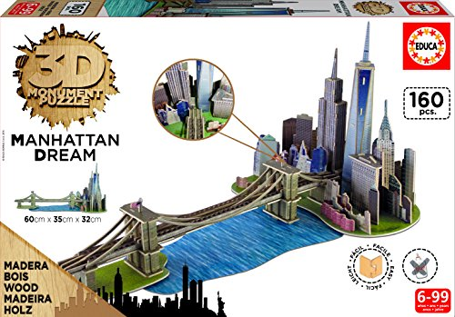 Educa Borrás - 17000.0 - 3D Monument - Puzzle - Manhattan Dream