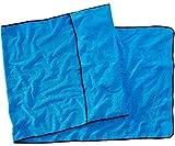 Sowel - Strandtuch, Badetuch mit Kapuzenüberschlag, Rutschfester Frotte Bezug für Liegen, 220 x 80 cm, 100% Baumwolle