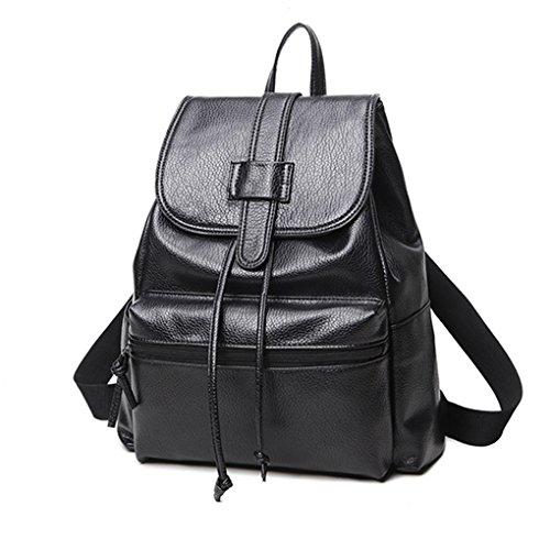 Mengonee borse a tracolla sacchetto di scuola adolescente computer portatile da viaggio in pelle uomo donna vintage affari zaini zaino pu