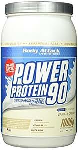 Body Attack Power Protein 90, Vanille, 1kg Dose